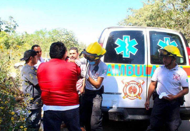 Las heridas del operador fueron superficiales, por lo que no requirió traslado a un hospital. (Foto: Redacción)