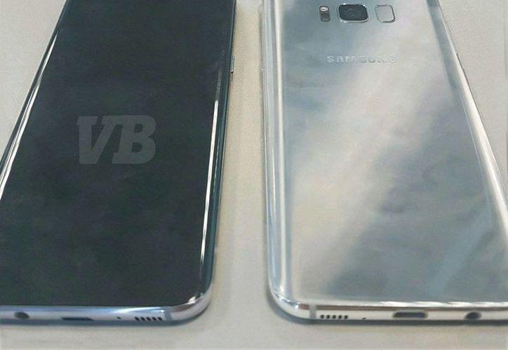 Imagen del que sería el Samsung Galaxy S8, la cual fue tuiteada por el usuario @evleaks. (twitter.com/evleaks)