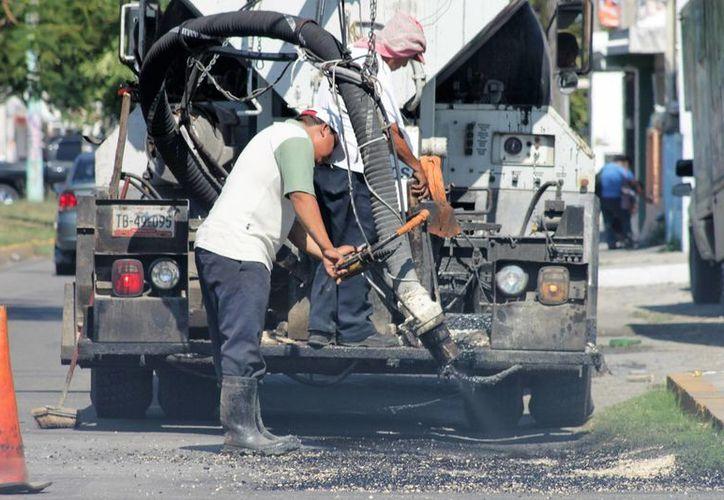 Se calculan mas de 50 mil metros cuadrados en reparaciones.(Paloma Wong/SIPSE)