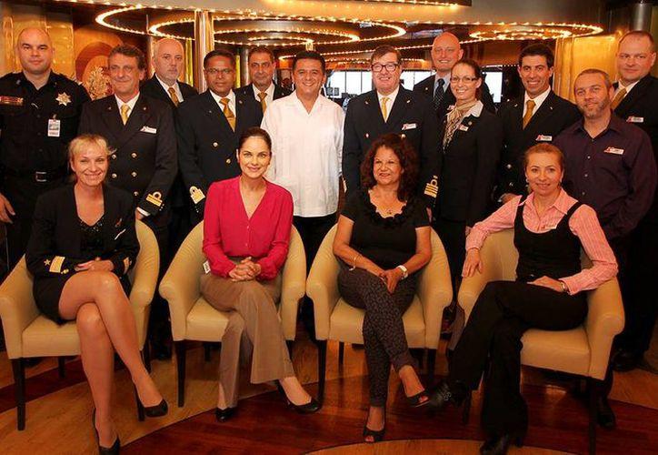 El evento se realizó a bordo del hotel flotante. (Cortesía/SIPSE)