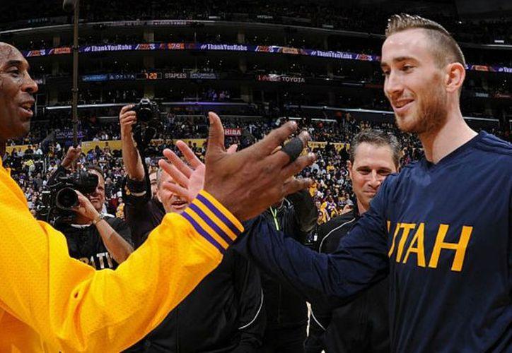 Kobe Bryant le envía mensaje de apoyo a Gordon Hayward. (Contexto/Internet).