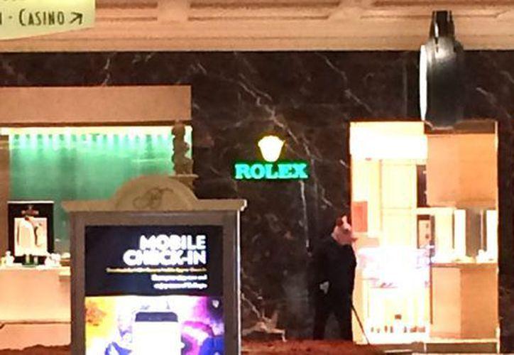 El asalto ocurrió en una joyería en el Bellagio Resort & Casino, en Las Vegas. (Twitter / Kir_Kamil)