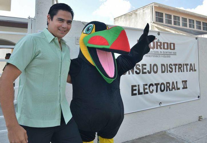 Eliot Reyes Novelo, ex candidato a la presidencia municipal por el PVEM. (Gustavo Villegas/SIPSE)