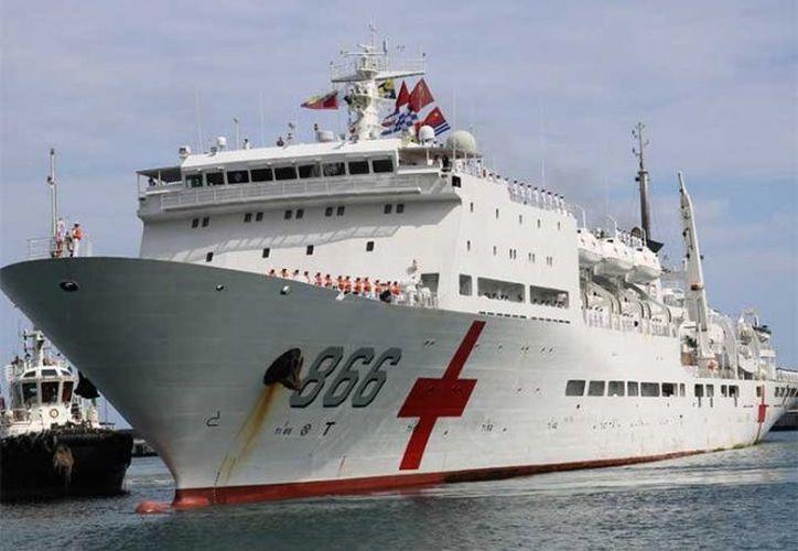 El buque hospital 'Arca de la Paz' de la armada de China dará servicio médico en Venezuela durante una semana. (Twitter/@ARMADAFANB)