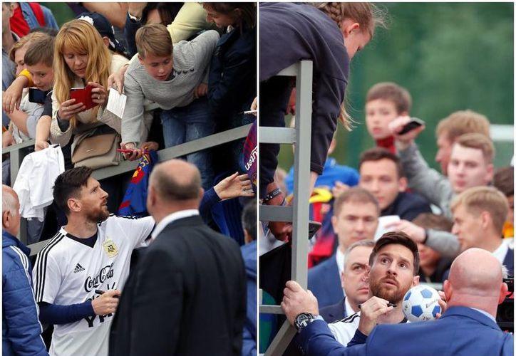 Lionel Messi, capitán de la Selección de Argentina, firmó autógrafos. (vanguardia.com)