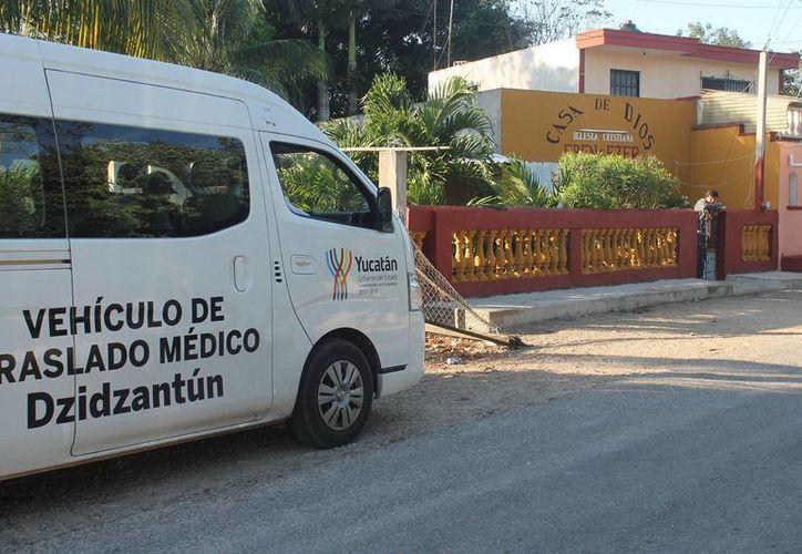 Imagen del templo en donde el doctor Jesús Leopoldo Magaña Aguilar, pastor de la secta, encerró a un grupo de sus seguidores el último día de 2014 en Dzidzantún. (Archivo/SIPSE)
