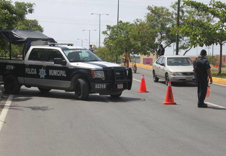 Mandos de las Policías de Solidaridad, Cancún y Tulum se reunieron ayer para definir estrategias de colaboración. (Adrián Barreto/SIPSE)