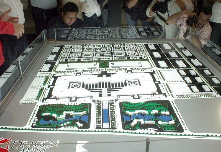 El proyecto Dragon Mart anunciado desde diciembre de 2011. (Tomás Álvarez/SIPSE)