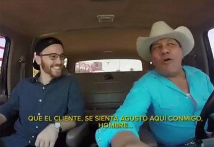 La compañía de transporte más popular del momento innova con divertidas promociones, como tener en su plantilla a Lupe Exparza como conductor de una unidad en Monterrey, Nuevo Leon. (Captura de pantalla)