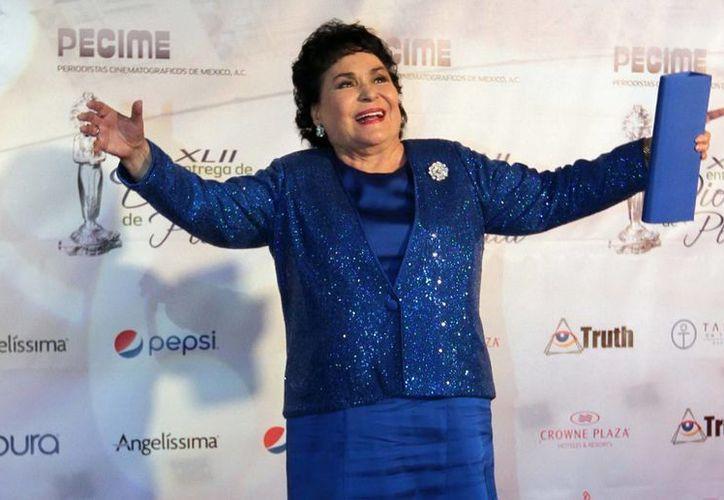 A finales de septiembre, Carmen Salinas será homenajeada en el municipio de Escobedo, Nuevo León. (Archivo Notimex)