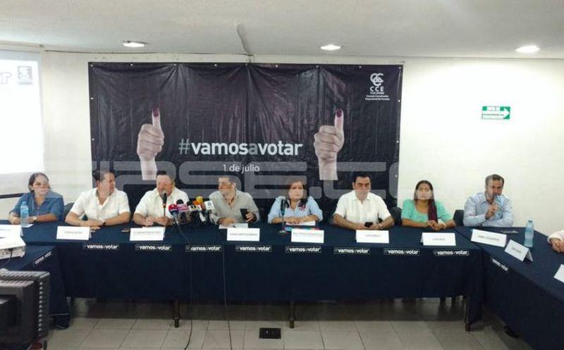 Dan a conocer a los ganadores de la dinámica #VamosaVotar. (José Acosta/Milenio Novedades)