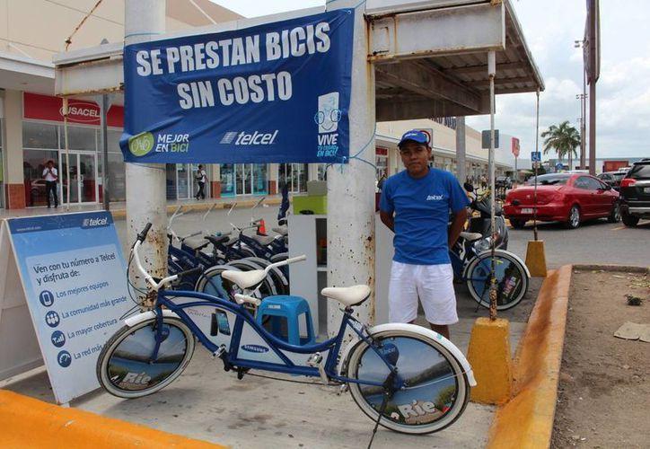 """El programa """"Mejor en bici"""" da bicicletas en préstamo gratis a los playenses de lunes a domingo de 11 a 19 horas.  (Yesenia Barradas/SIPSE)"""