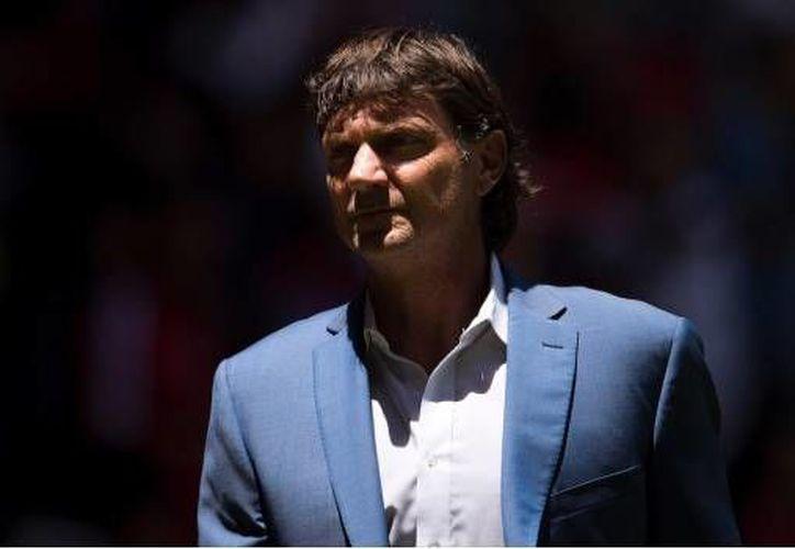 El técnico del Toluca, Cristante descartó haber insultado a la grada en el juego contra Atlas. (SIPSE)