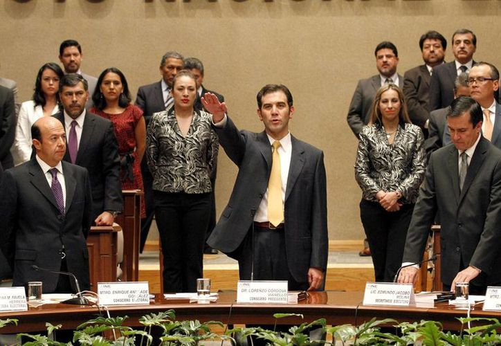 Lorenzo Córdoba tomó protesta como Consejero Presidente del Instituto Nacional Electoral. (Notimex)