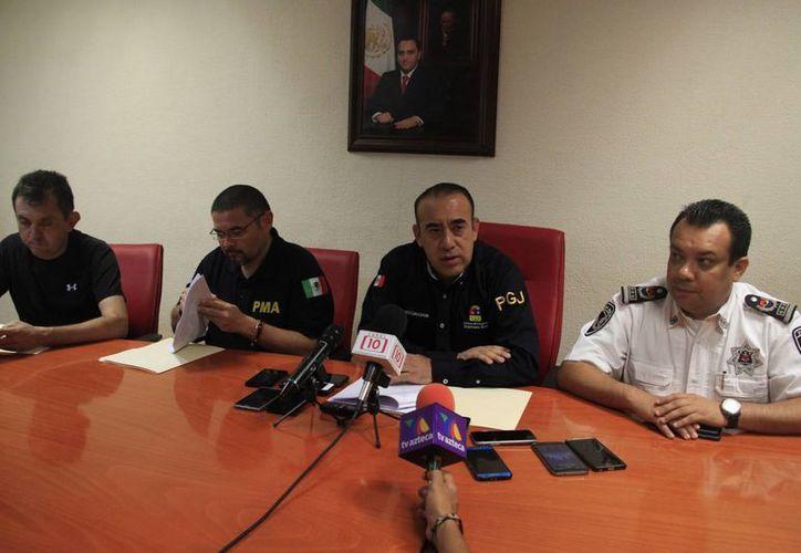 La Procuraduría de Justicia de Q. Roo dio a conocer esta tarde la detención de 14 personas del cártel de Jalisco Nueva Generación. (Tomás Álvarez/SIPSE)