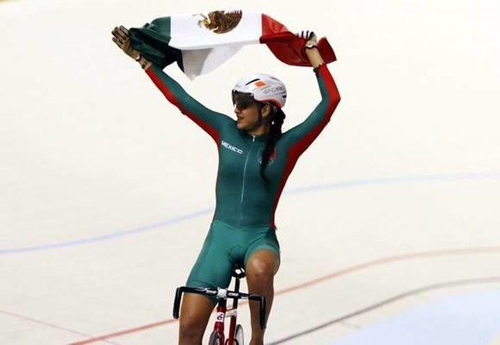 Yarely Salazar, medallista de bronce en Toronto 2015, buscará puntos en la última parada de la Copa del Mundo de Ciclismo de Pista en Hong Kong. (Archivo Mexsport)