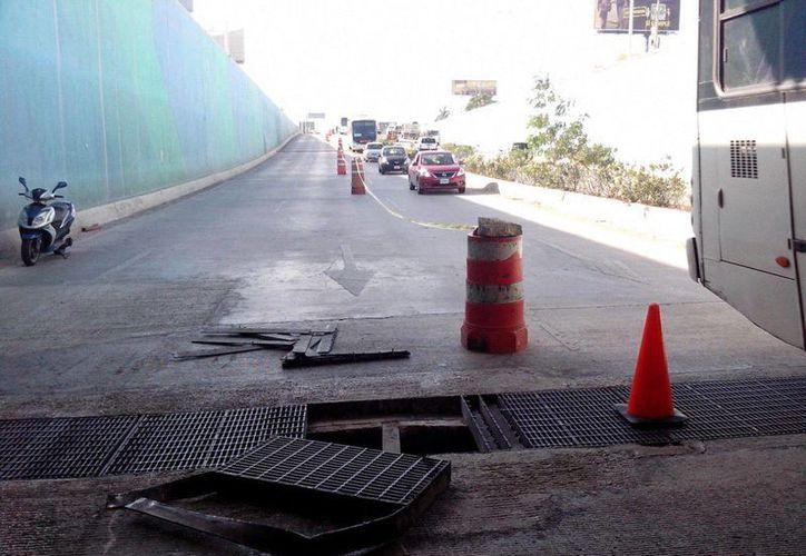 Cierran vialidad para evitar accidentes. (Sergio Orozco/SIPSE)