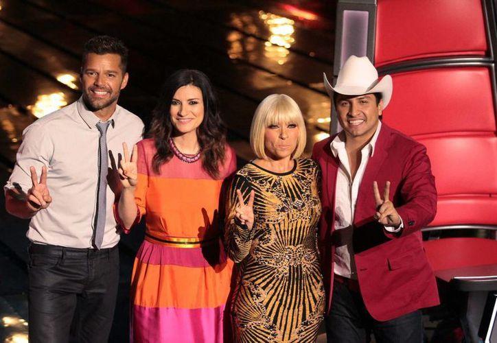 Los coaches de La Voz... México. (Notimex)