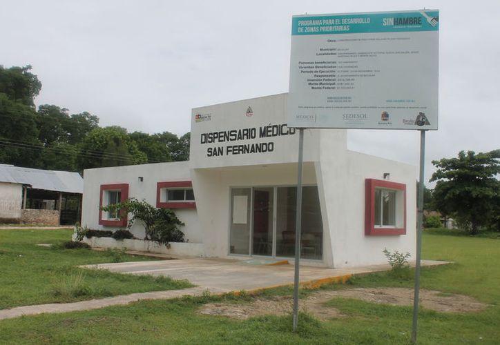Los dispensarios se hicieron a pesar de que la Secretaría de Salud les advirtió que no contaban con plazas para médicos y medicamentos. (Carlos Castillo/SIPSE)