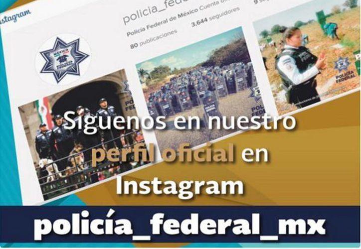 La Policía Federal se acerca a la ciudadanía a través de sus cuentas de redes sociales como Facebook, Instagram y Twitter. (Impresión de pantalla)