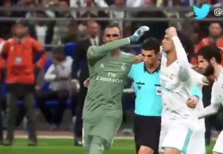 Seguidores blaugranas que ayer fueron eliminados por la Roma, se saboreaban una posible eliminación del Real Madrid a manos de la Juventus. (Vanguardia MX)
