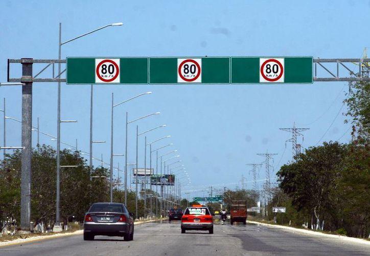 Muchos no respetan los límites de velocidad.
