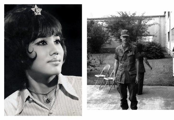 """El exsoldado Larry Johnson aparece en esta foto tomada en Saigón en 1972, durante la guerra de Vietnam y Truong My Linh, """"Candy"""", la novia de Johnson, ese mismo año. (EFE)"""