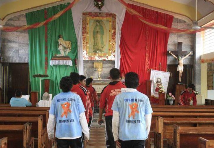 En los próximos días se espera la llegada de peregrinos a la iglesia de Guadalupe en Chetumal. (Redacción/SIPSE)