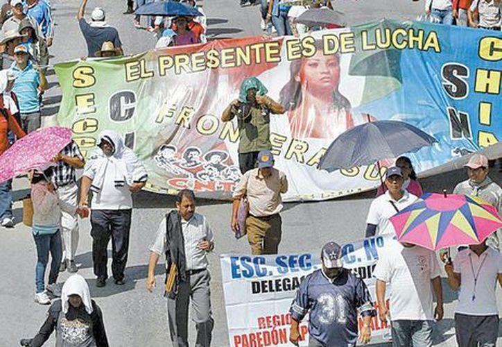 Más de 11 mil salieron a las calles en Tuxtla Gutiérrez, Chiapas. (Milenio)