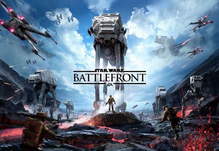 Imagen del videojuego de última generación: StarWarsBattlefront, realizado exclusivamente para PS4 por la compañía EA Dice, cuyo tráiler fue presentado ayer en el marco de la Star Wars Celebration VII. (Hugo Peniche/enviado)