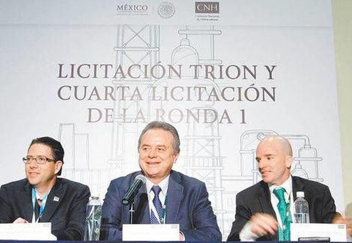 Juan Carlos Zepeda, Pedro Joaquín Coldwell y José Antonio González en la Ronda 1.4. (Milenio)