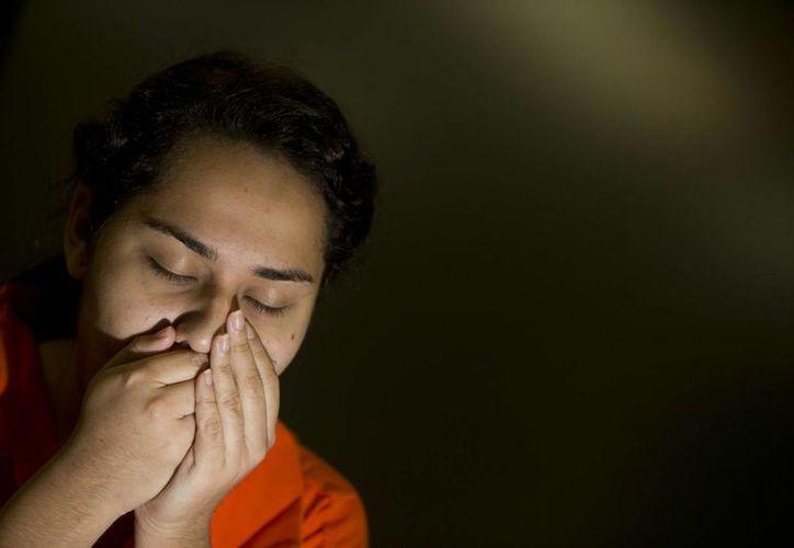 María Peniche, de 22 años, se dijo sorprendida por su liberación. (Agencias)