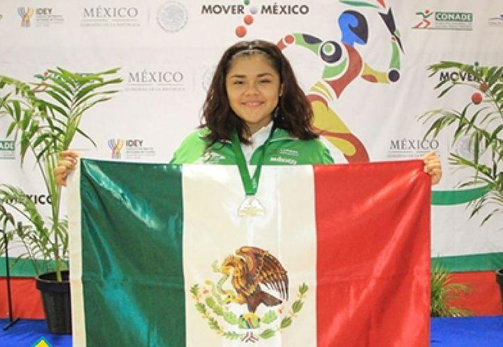 Fátima Crisanto, originaria de Quintana Roo logró el pase a Barranquilla en mayo, tras ganar el Selectivo Nacional en Toluca. (SIPSE)