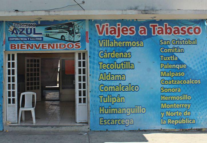 Los principales destinos de estas transportadoras en Tabasco son Macuspana, Villahermosa y Cárdenas. (Jesús Tijerina/SIPSE)