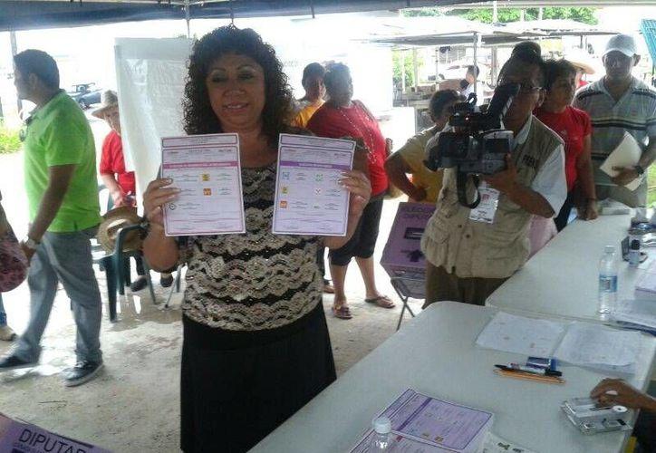 Gelmy Villanueva Bojórquez, candidata ciudadana a la presidencia de Benito Juárez. (Teresa Pérez/SIPSE)