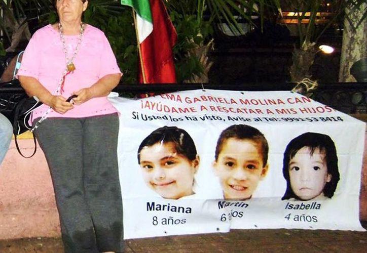 Ligia Canto es abuela de tres niños sustraídos del seno familiar por el padre. (SIPSE)