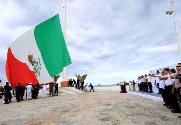 La Bandera representa la grandeza y soberanía de México. (Cortesía/SIPSE)