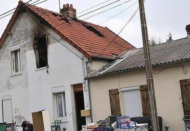 Imagen de la casa siniestrada. (diariovasco.com)