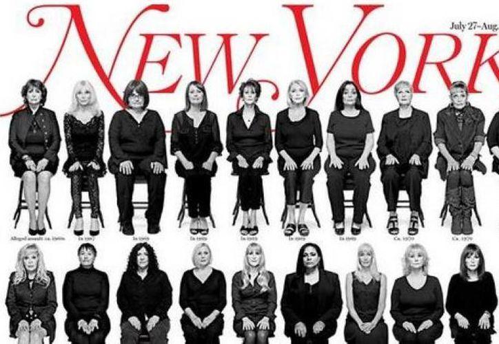 Portada de 'The New York Magazine' en la que aparecen 35 supuestas víctimas del cómico Bill Cosby. Las mujeres, además de aparecer en la portada, dieron testimonio sobre los casos de agresión sexual sufridos. (Imagen RT)