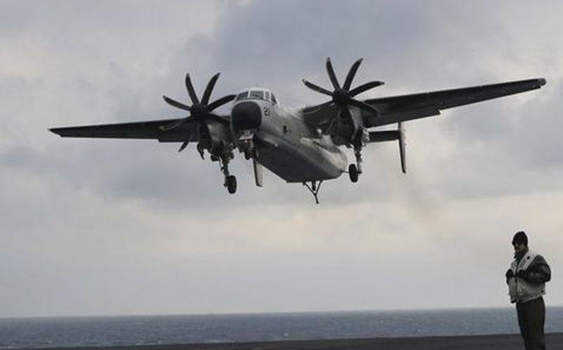 Avión militar de EEUU cayó al mar con 11 personas a bordo