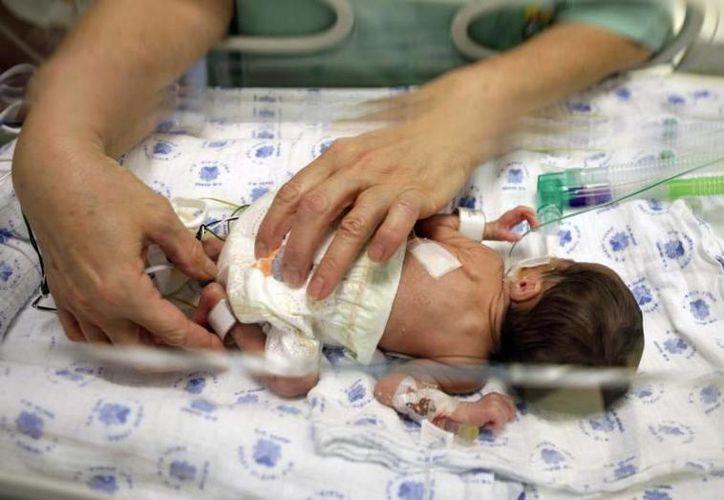 """""""Como seres humanos no podría existir ningún derecho si antes no existiera el de la vida, y es por eso que nuestra postura será siempre contra el aborto"""", subrayó el presidente de la Asociación de Médicos Católicos, Víctor Pinto Brito. Imagen de contexto de un bebé recién nacido. (Archivo/SIPSE)"""