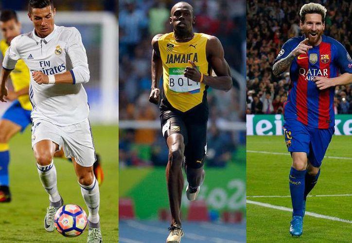 Ussain Bolt dice que él sería en el futbol una mezcla perfecta entre Messi y Cristiano. (marca.com)