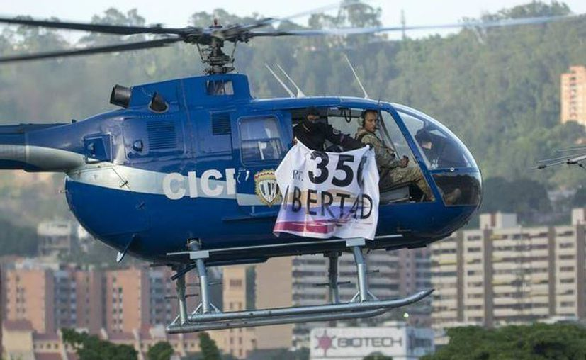 Un helicóptero fue lanzó granadas a Tribunal Supremo de Justicia de Venezuela la tarde del martes. (Infobae)