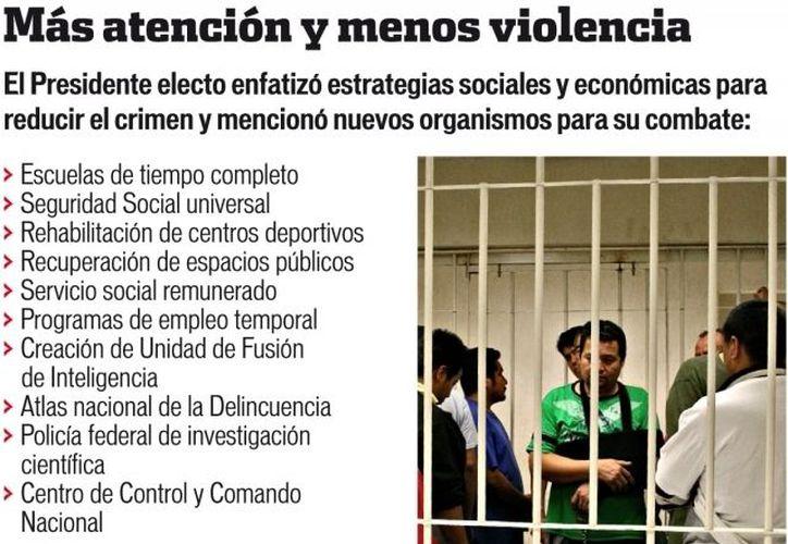 Peña Nieto considera que con su estrategia, además de recuperar la seguridad, se reducirá la pobreza y la deficiencia alimentaria. (Agencia Reforma)