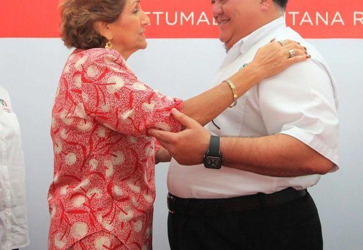 Encabezan la lista de posiciones que serán registradas este domingo ante el Instituto Electoral de Quintana Roo. (Harold Alcocer/SIPSE)