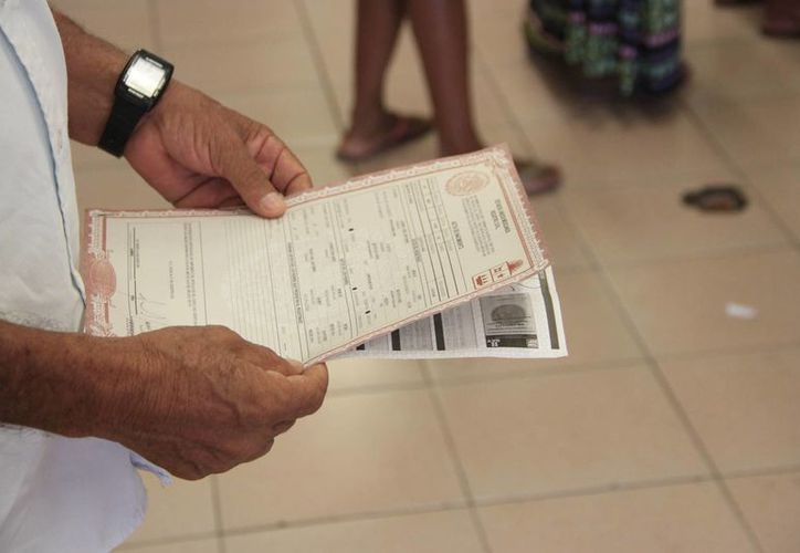 Anteriormente las personas pagaban 134 pesos y la copia certificada que costaba 69 pesos. (Tomás Álvarez/SIPSE)