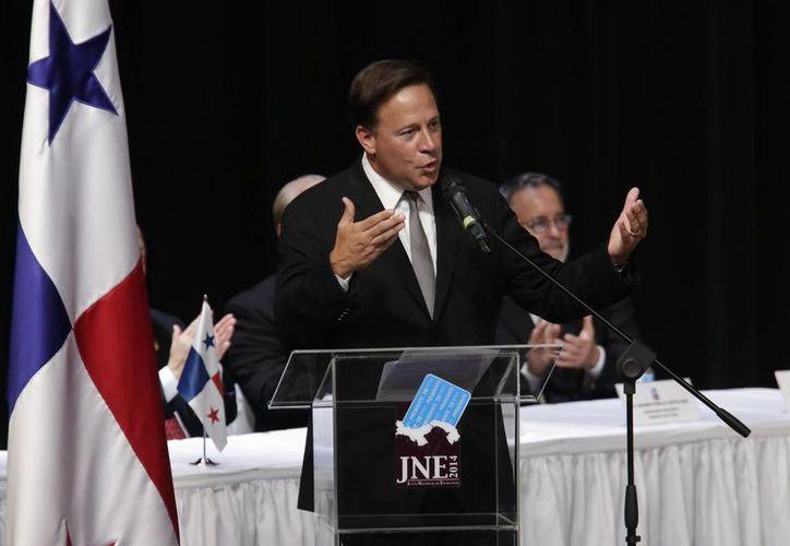 Juan Carlos Varela obtuvo 724 mil 724 votos en la jornada electoral del pasado domingo. (AP)