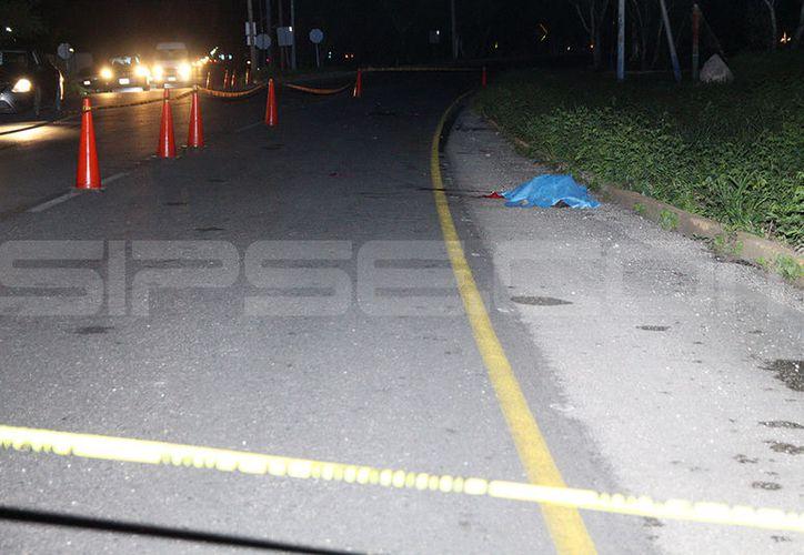 La noche del jueves, un ciclista falleció instantáneamente luego de ser impactado por un conductor que se dio a la fuga. (SIPSE)