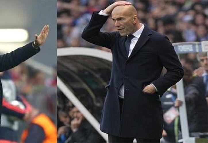 Diego Simeone y Zinedine Zidane han escrito una lucha aparte, cada quien con su club, y piensan redondearla este sábado con la Orejona. (AP)