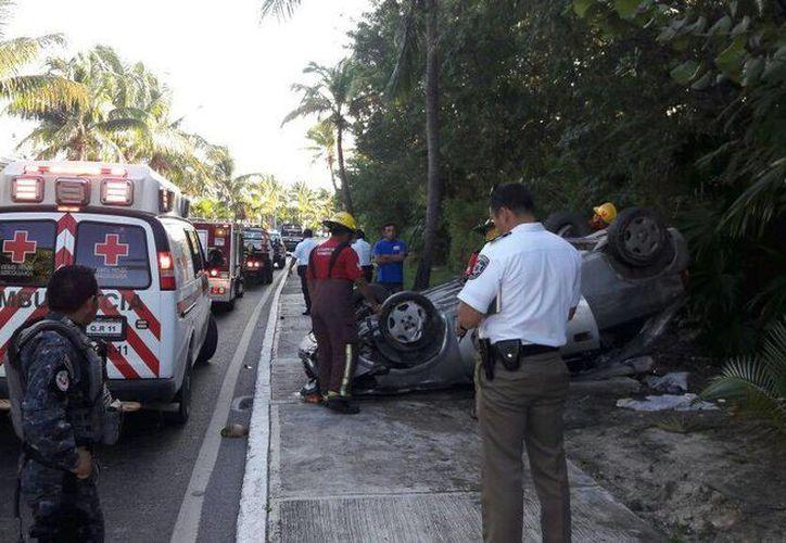 En la zona en donde ocurrió el accidente, reportan tráfico pesado.  (Redacción/SIPSE)